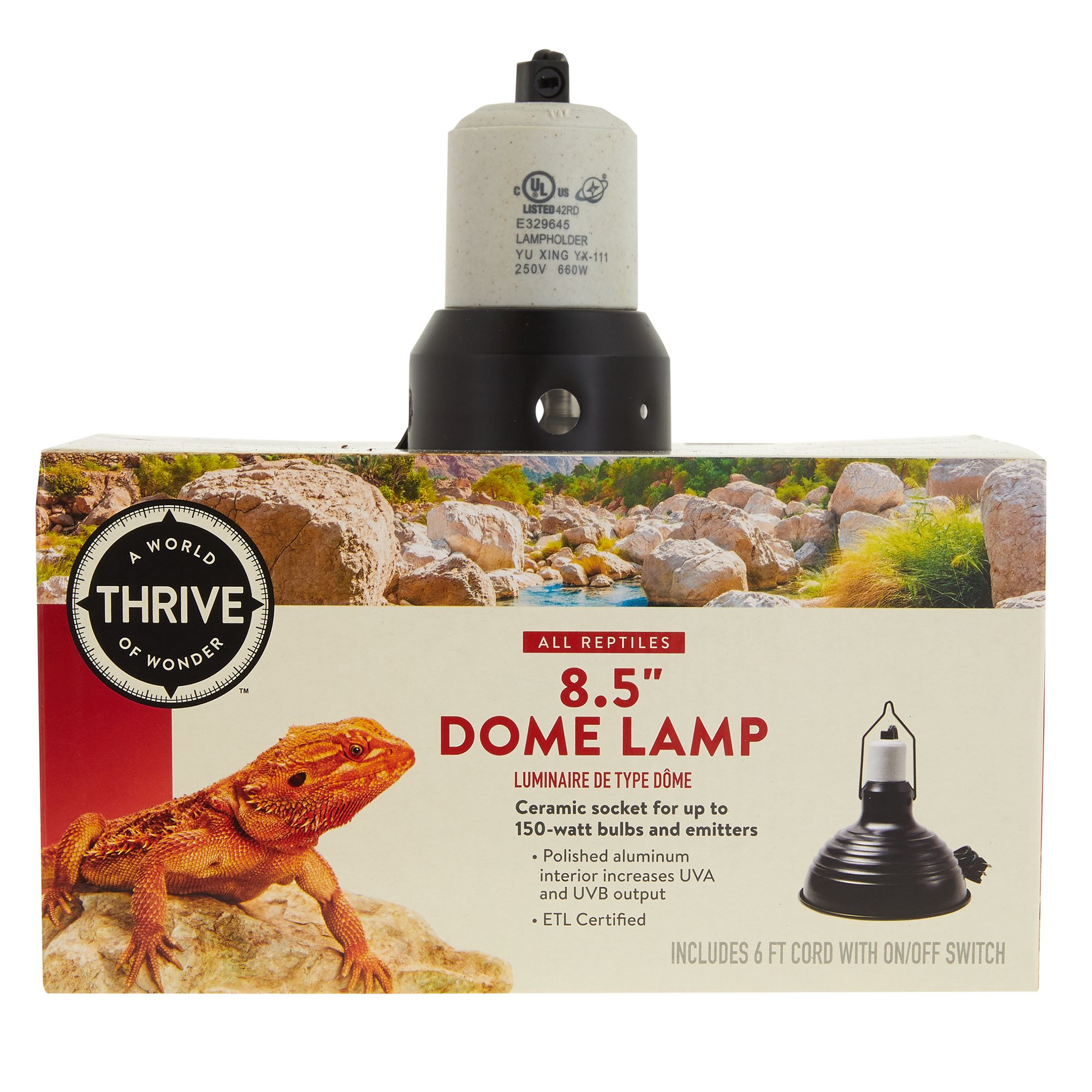Thrive Reptile Terrarium Dome Lamp with Switch