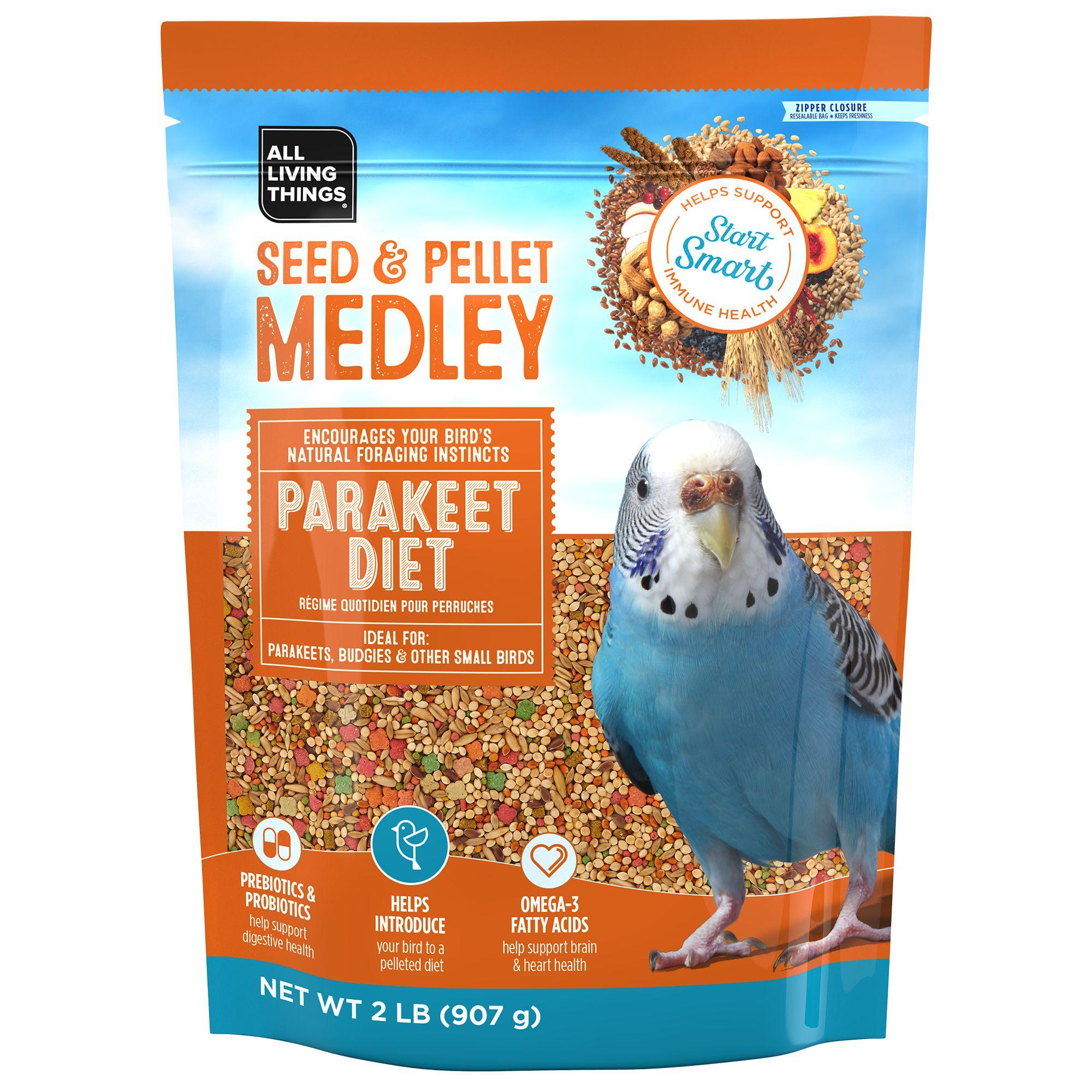 All Living Things® Seed & Pellet Medley Parakeet Diet