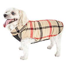 """Pet Life® """"Allegiance"""" Classic Plaid Pet Coat"""