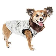 """Pet Life® Luxe """"Purrlage"""" Pelage Faux Fur Pet Coat"""