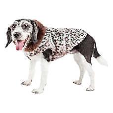 "Pet Life® Luxe ""Furracious"" Cheetah Faux Fur Pet Coat"