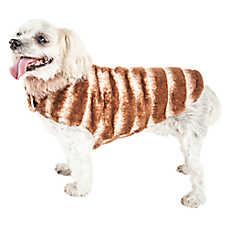"Pet Life® Luxe ""Tira-Poochoo"" Tiramisu Faux Fur Pet Coat"