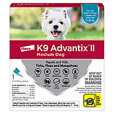 K9 Advantix® II 11-20 lbs Dog Flea & Tick Treatment