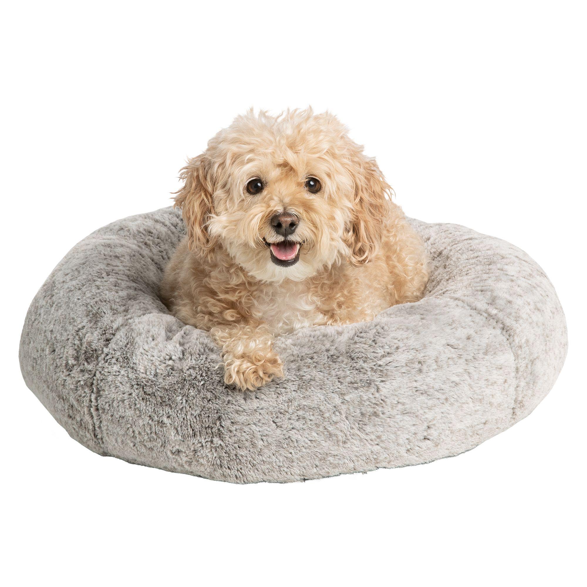 Top Paw Faux Fur Donut Pet Bed Donut Dog Beds Petsmart