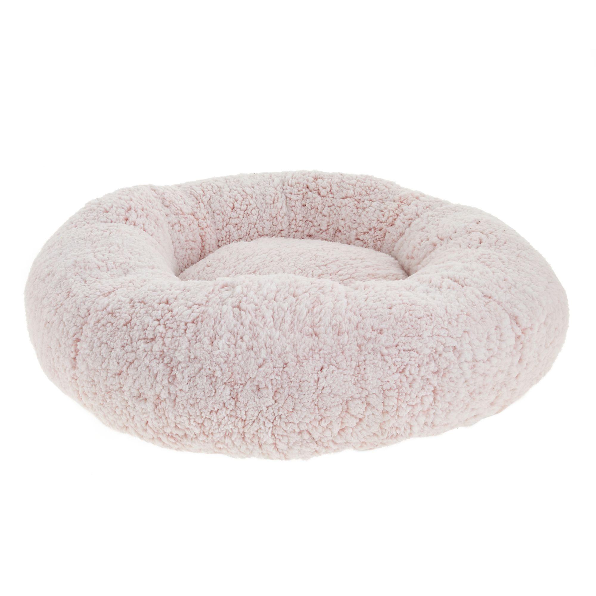 Top Paw Fuzzy Donut Pet Bed Fuzzy Dog Beds Petsmart