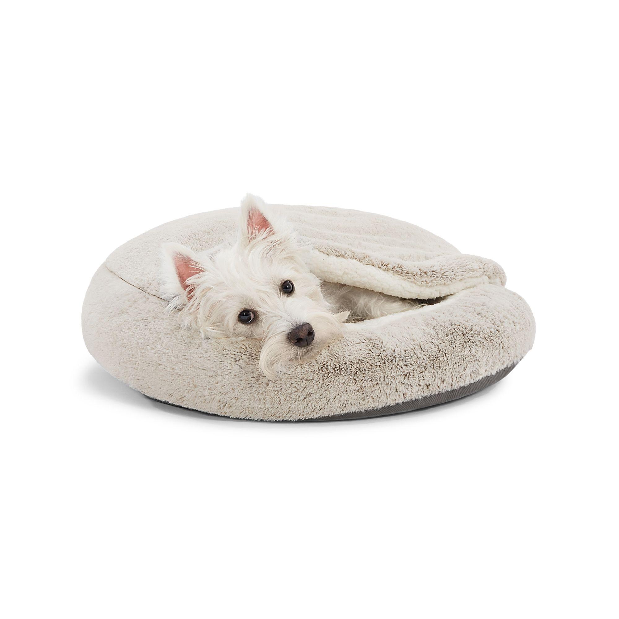 Top Paw Faux Fur Snuggler Cave Dog Bed Dog Cuddler Beds Petsmart