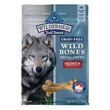 BLUE Wilderness® Wild Bones Dental Dog Chews  - Natural, Grain Free