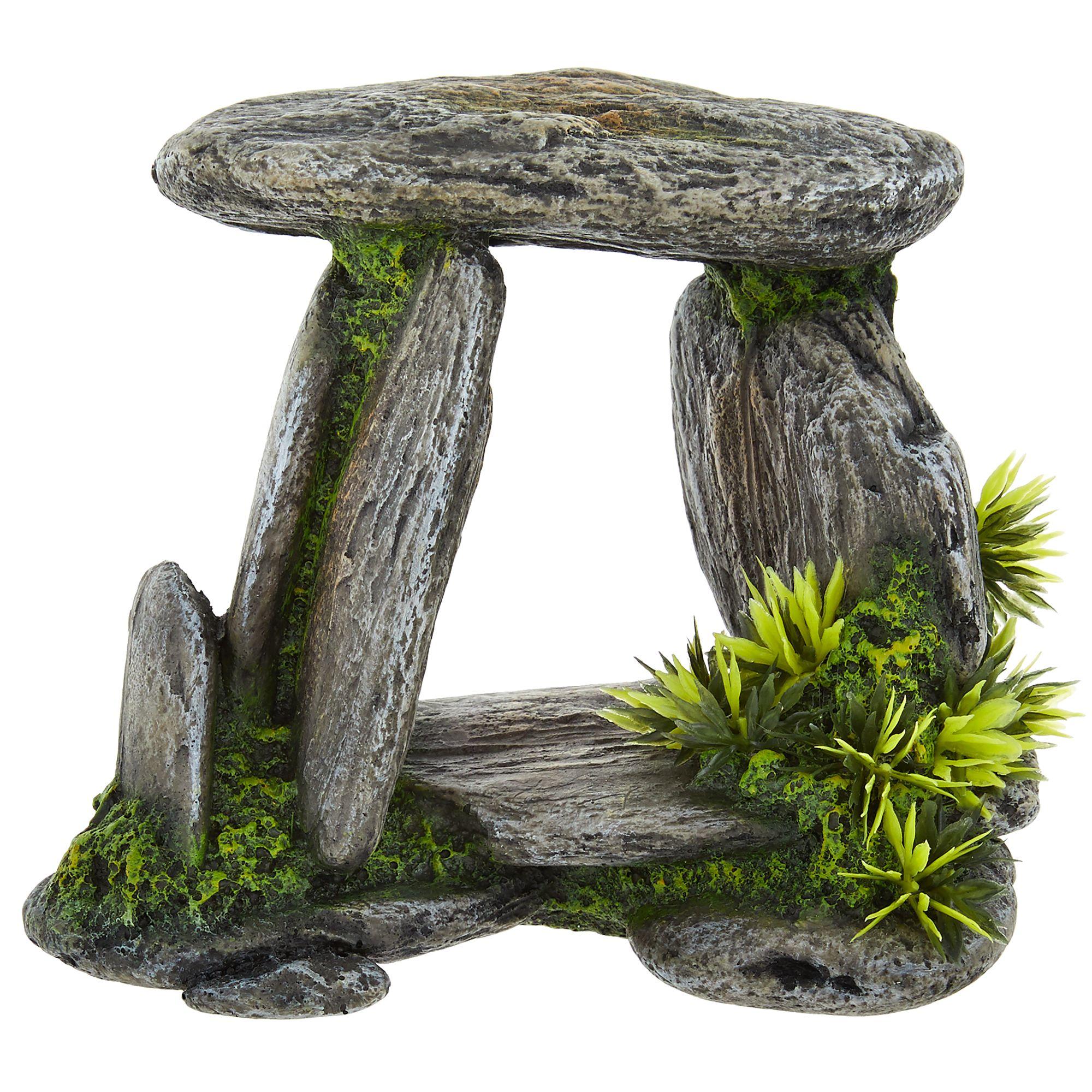 Top Fin® Rock Formation with Plants Aquarium Ornament