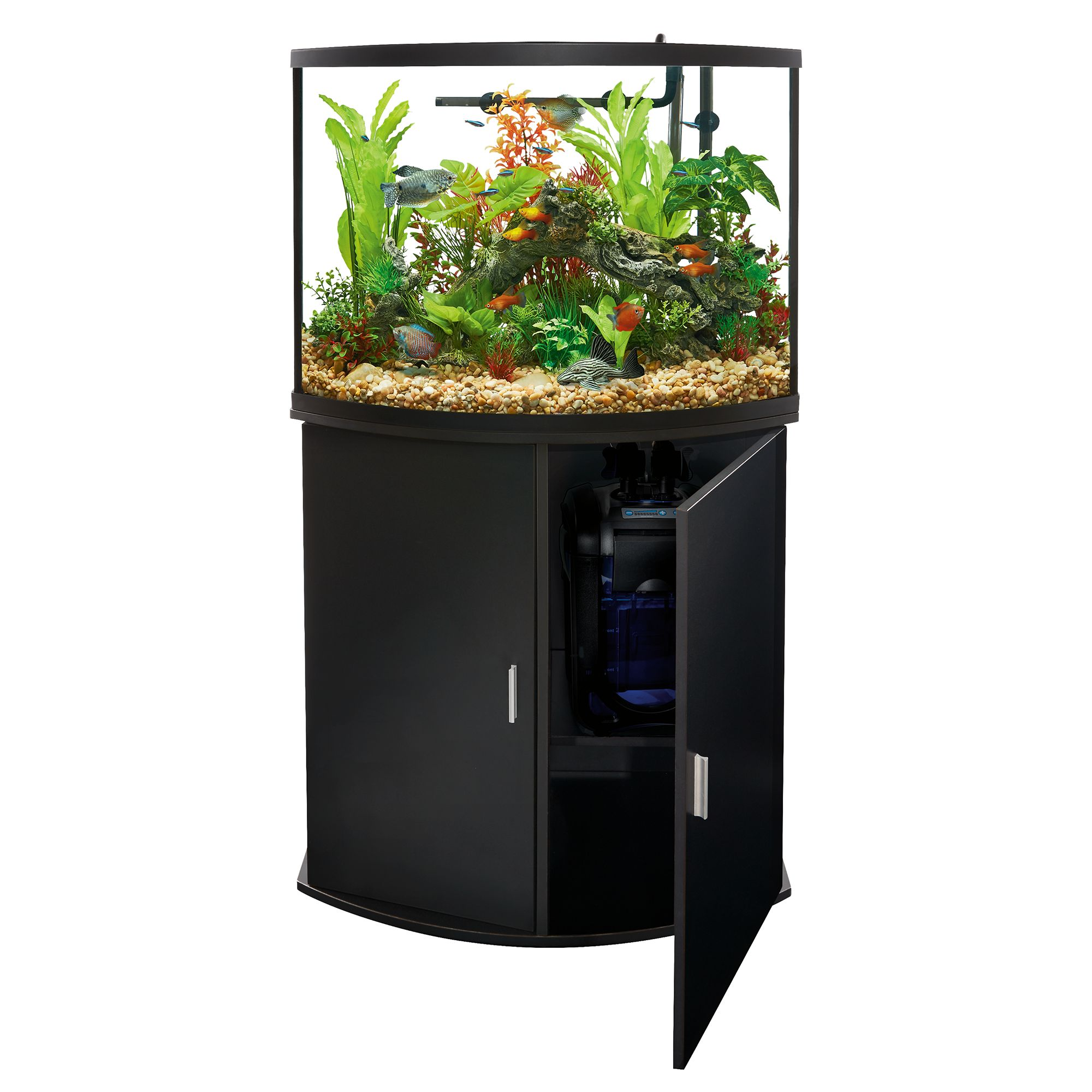 Top Fin Bowfront Aquarium & Stand Ensemble, 36 Gallon