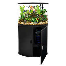 sale $199.99 Top Fin® bow front aquarium & stand ensemble, 36 gal.