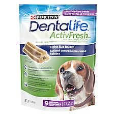Purina® DentaLife ActivFresh™ Small/Medium Breed Dental Dog Treat