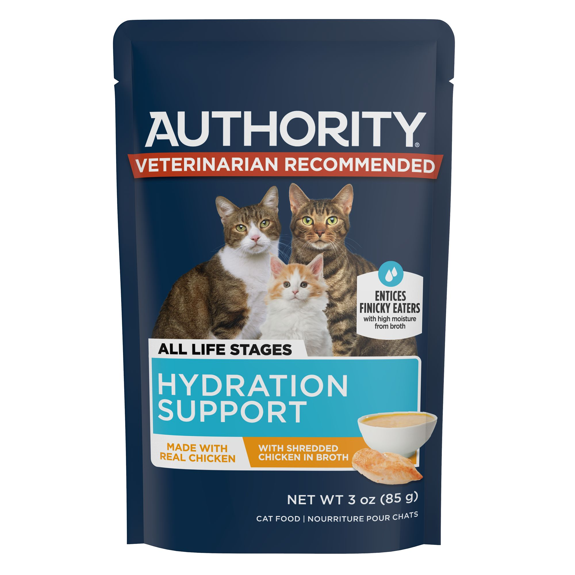 Authority Savory Solutions Shreds In Broth Wet Cat Food Cat Wet Food Petsmart
