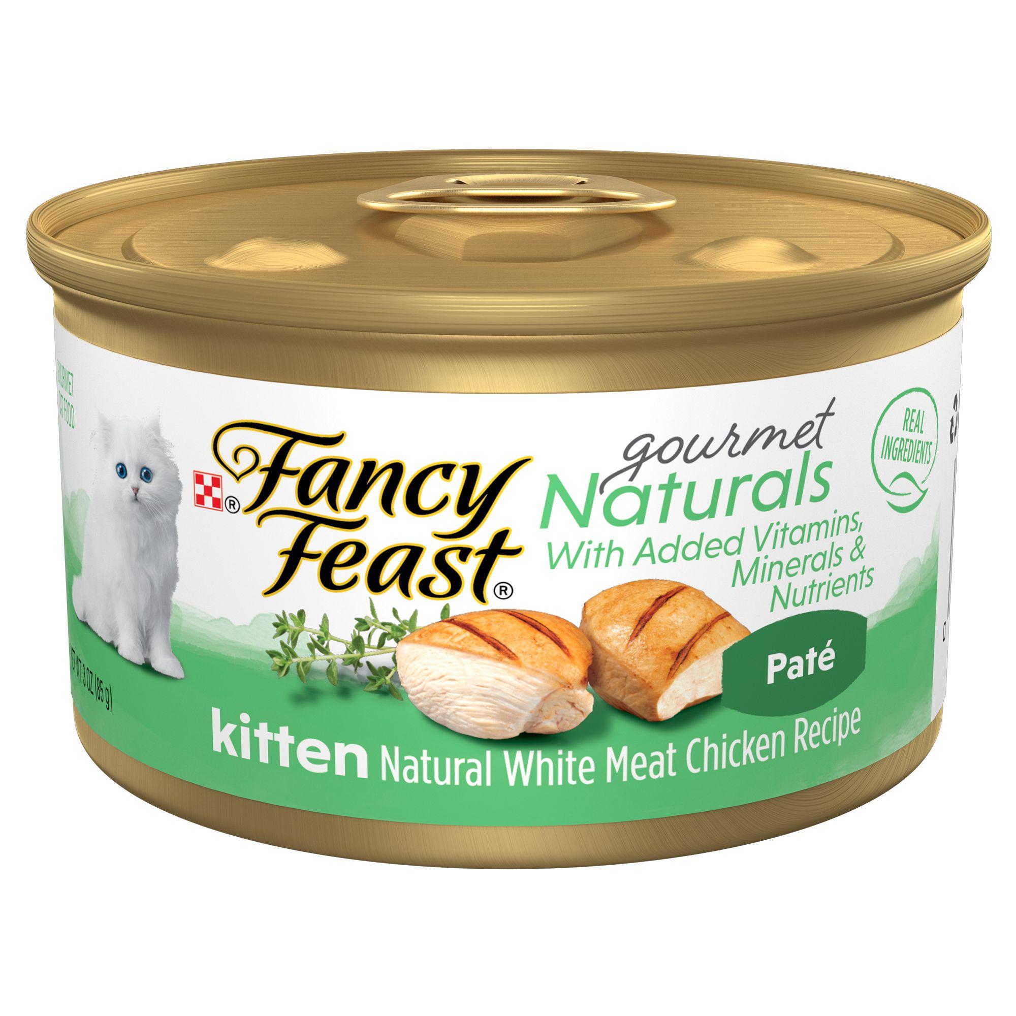 Fancy Feast Gourmet Naturals Kitten Cat Food Natural Grain