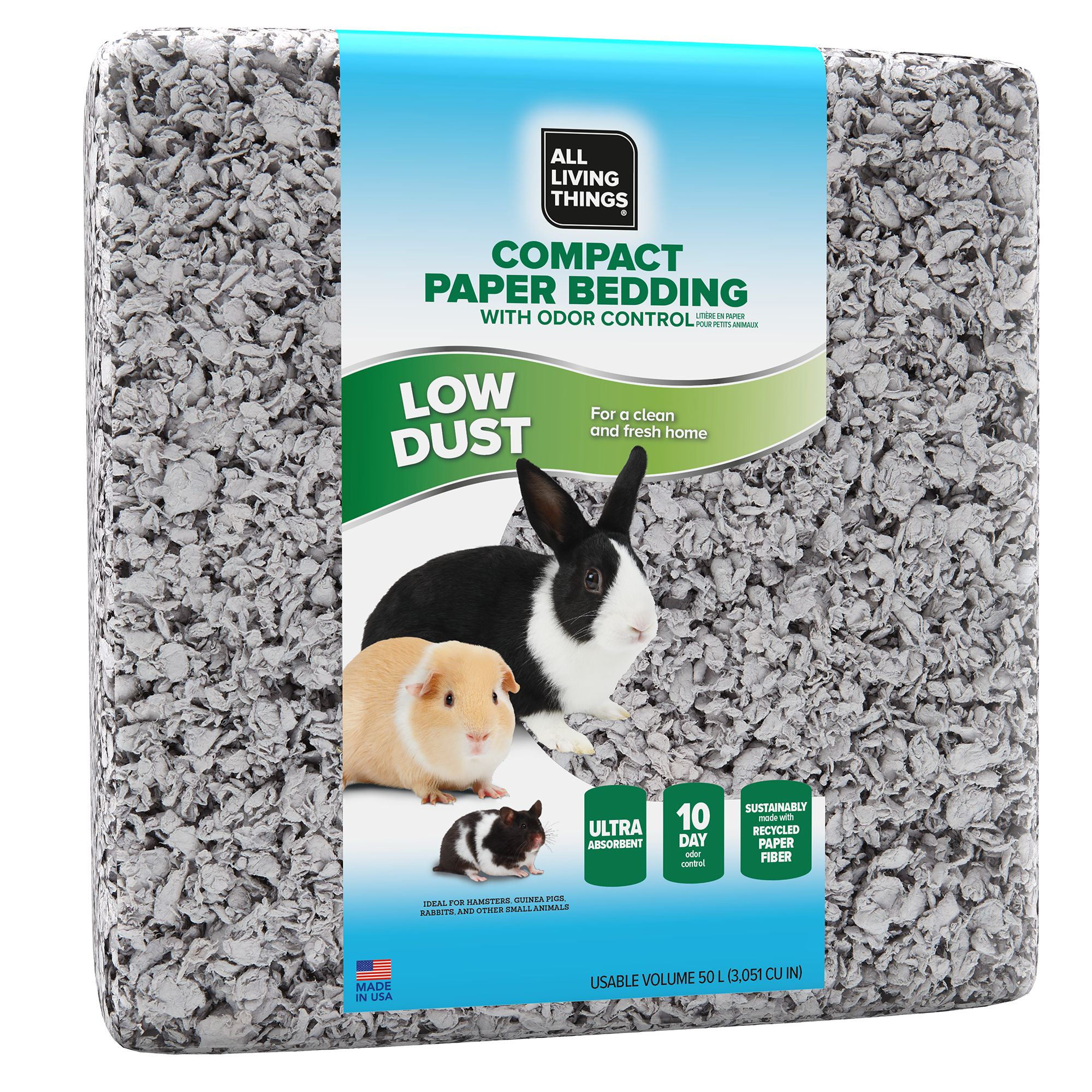 All Living Things® Compact Paper Bedding with Odor Control