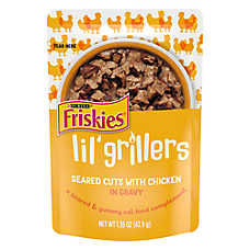 sale 3 / $3	entire stock Purina® Friskies® Lil' Soups™ & Lil Grillers cat treats, 1.2-1.55 oz. pkgs.