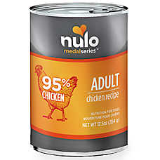 sale 5 / $12	Nulo MedalSeries™ dog food, 12.5 oz. cans