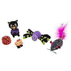 Thrills & Chills™ Pet Halloween Plush Cat Toys - 5 Pack