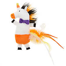 Thrills & Chills™ Pet Halloween Catnip Refillable Unicorn Cat Toy