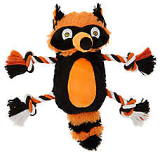 Thrills & Chills™ Pet Halloween Racoon Dog Toy - Plush, Crinkle, Rope