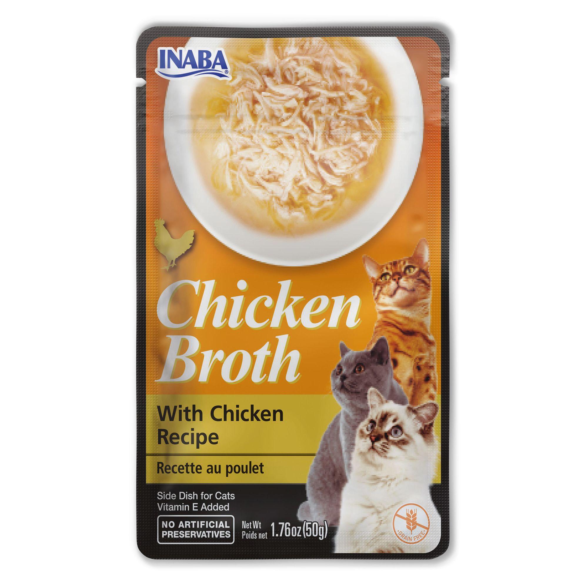 Inaba Chicken Broth Side Dish Cat Treat - Chicken Recipe