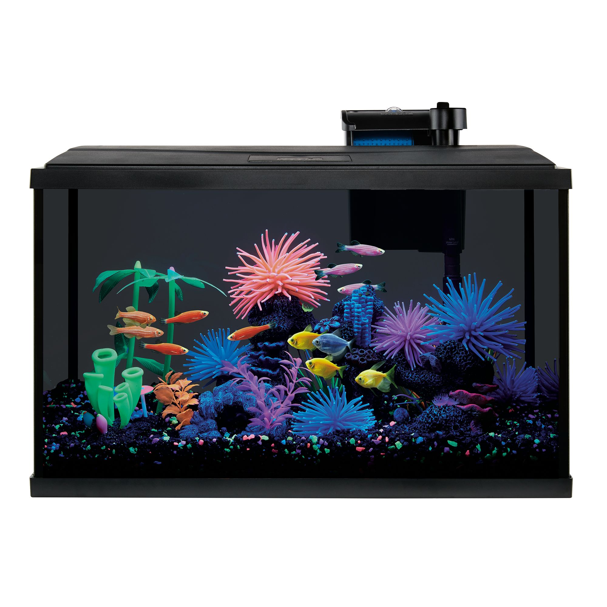 Top Fin® LED Black Glass Aquarium
