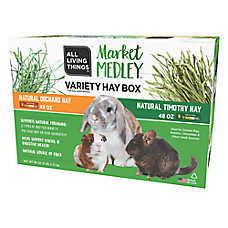 buy 1, get the 2nd 50% off	 All Living Things® small pet hay, 96 oz.