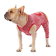 Top Paw Red Fair Isle Red Pajama
