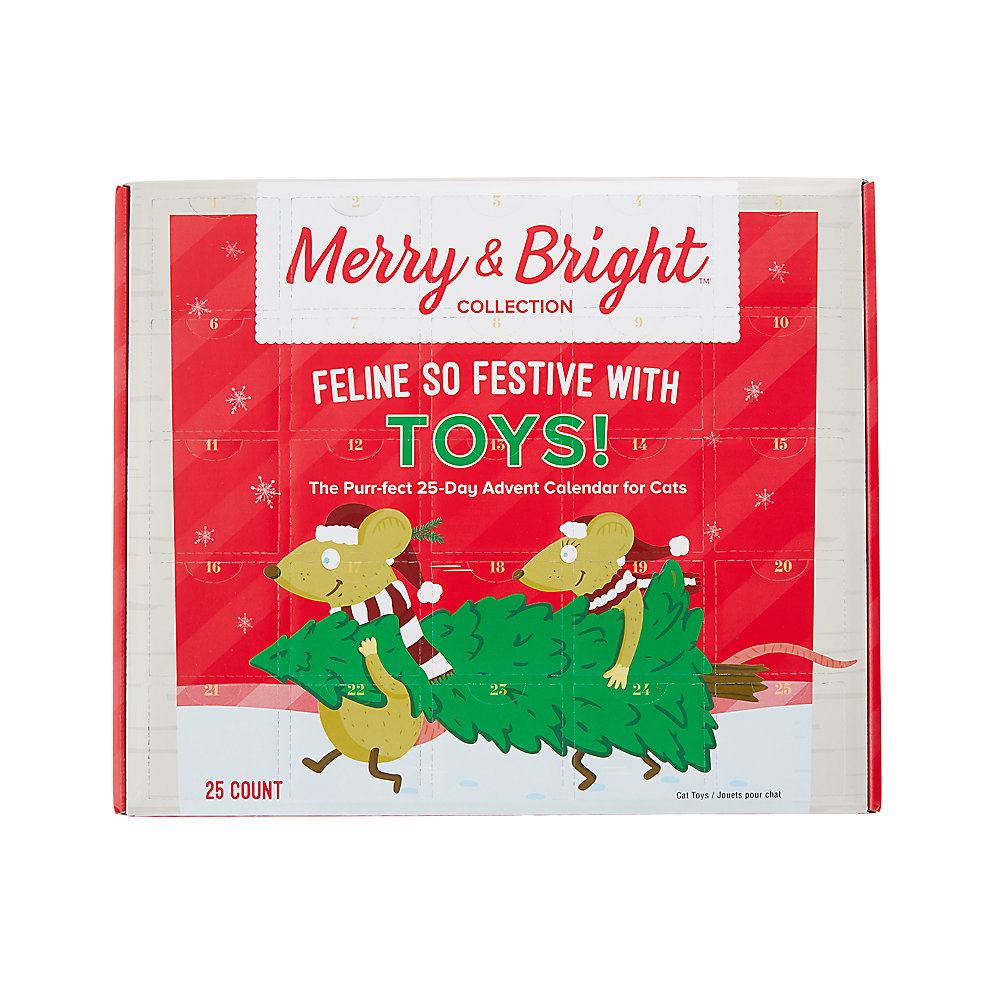 Merry Bright Trade Holiday 25 Day Advent Calendar For Cats Cat Multi Pack Petsmart