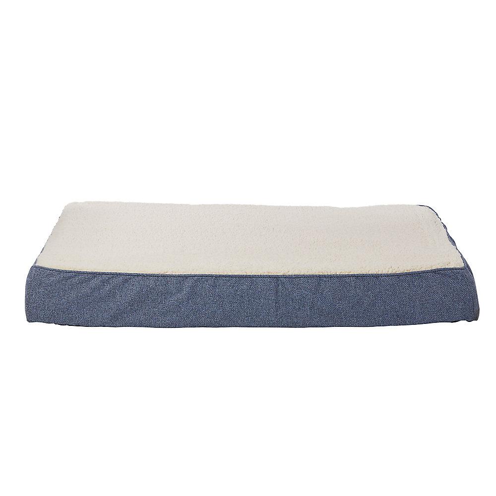 Top Paw Blue Heather Orthopedic Mattress Dog Bed Dog Orthopedic Beds Petsmart