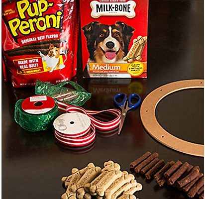 Dog Treat Wreath Supplies