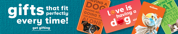Pet Mom or Pet Dad in your life? Spend $50+ on Gift Cards & get a $10 eBonus Card to use later, terms apply