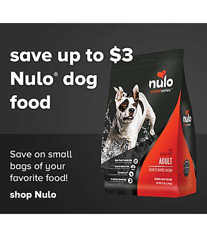 save up to $3 Nulo dog food - Save on small bags of your favorite food! Shop Nulo