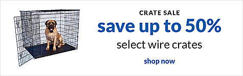 crate sale - save up to 50% select wire crates. shop now