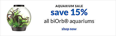 aquarium sale - save 15% all biOrb aquariums. shop now