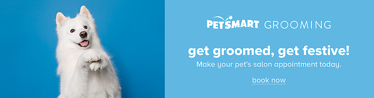 Make your pet's salon appointment today. Book now >