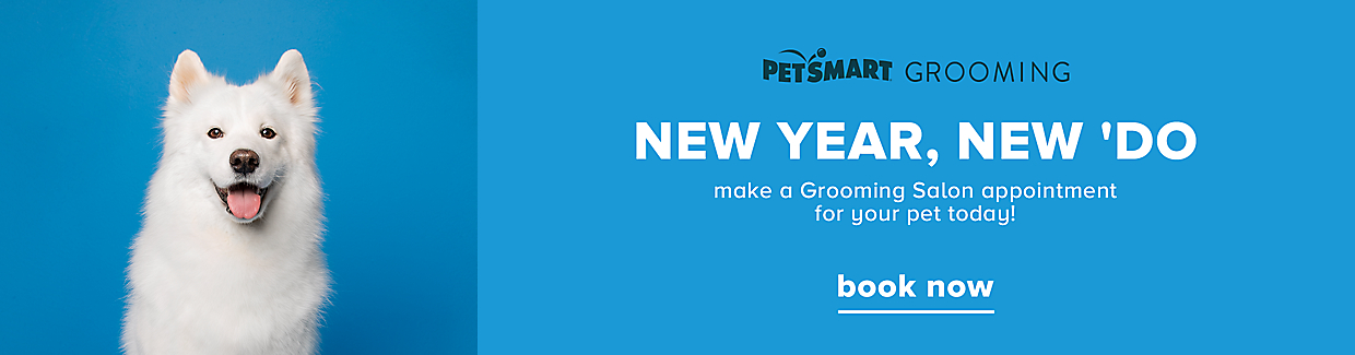 New Year, New 'Do, make a Grooming Salon appointment for your pet today >