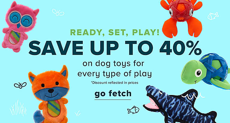 Save up to 40% on Dog Toys