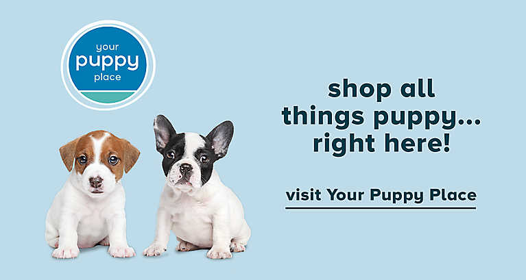 Shop all things puppy right here! Visit Your Puppy Place >