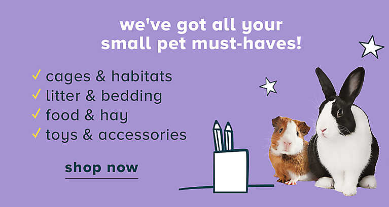 We're your one-stop-shop for everything small pet!
