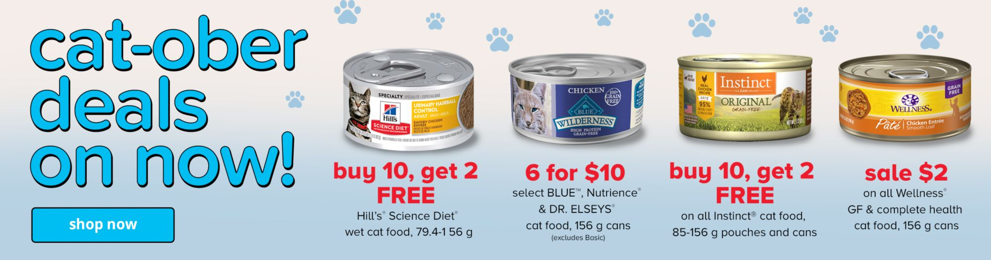 Cat-Ober deals are on now until 10/31!