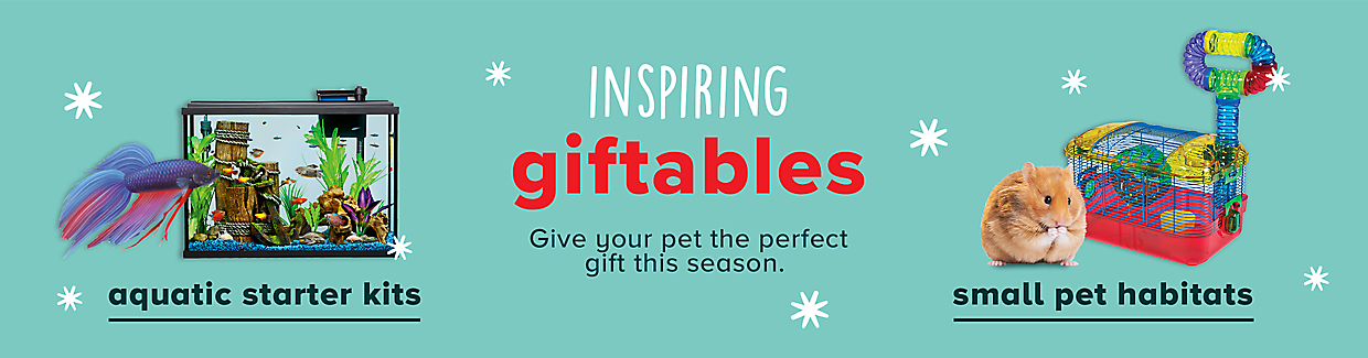 inspiring giftables Give your pet the perfect gift this season. aquatic starter kits > small pet habitats >