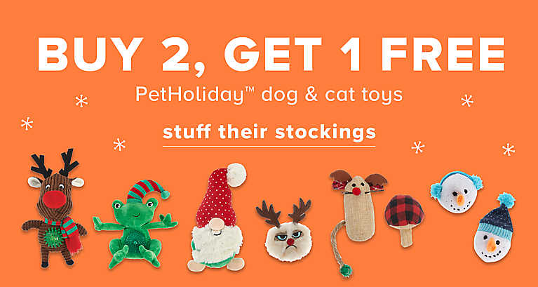 Buy2 Get1 Free Pet Holiday Dog & Cat Toys