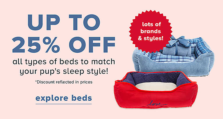 Save up to 25% on dog beds