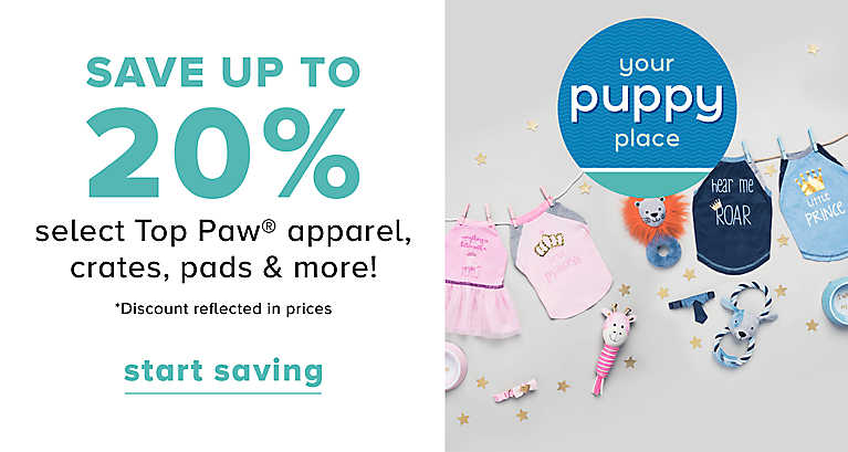 Save Up to 25% off Puppy & Dog Essentials