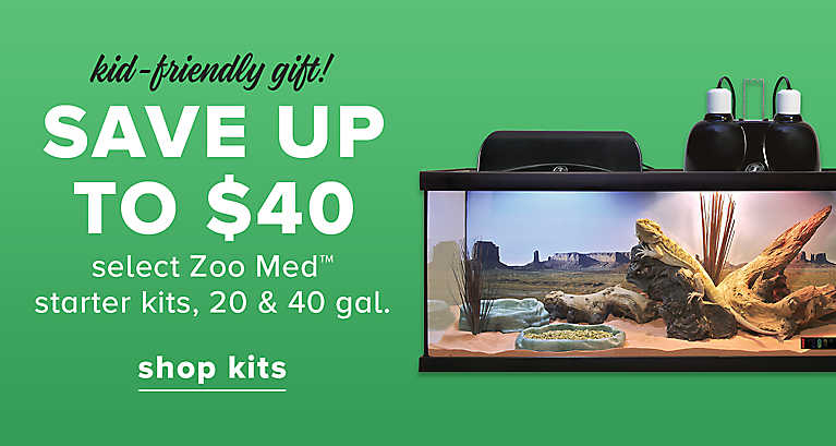 SAVE UP TO $40 select Zoo Med™ starter kits, 20 & 40 gal.