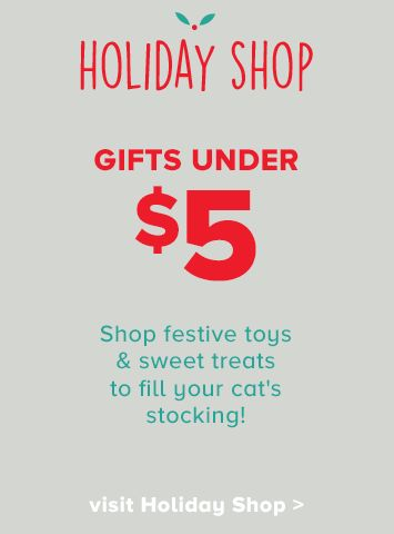 cat gifts under $5 in our Holiday Shop
