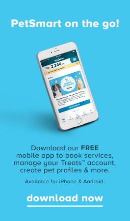 PetSmart on the go! Download our FREE mobile app to book services, manage your Treats™ account, create pet profiles & more. Available for iPhone & Android.