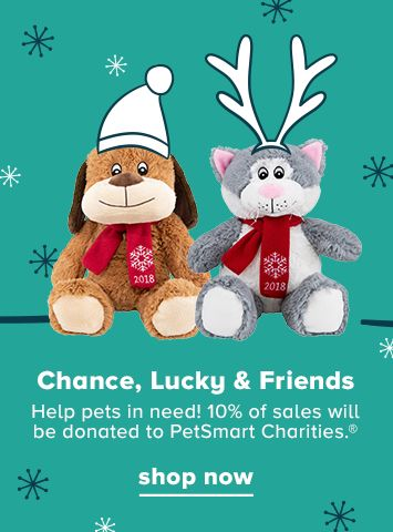 Help pets in need. 10% of sales will be donated to PetSmart Charities.®