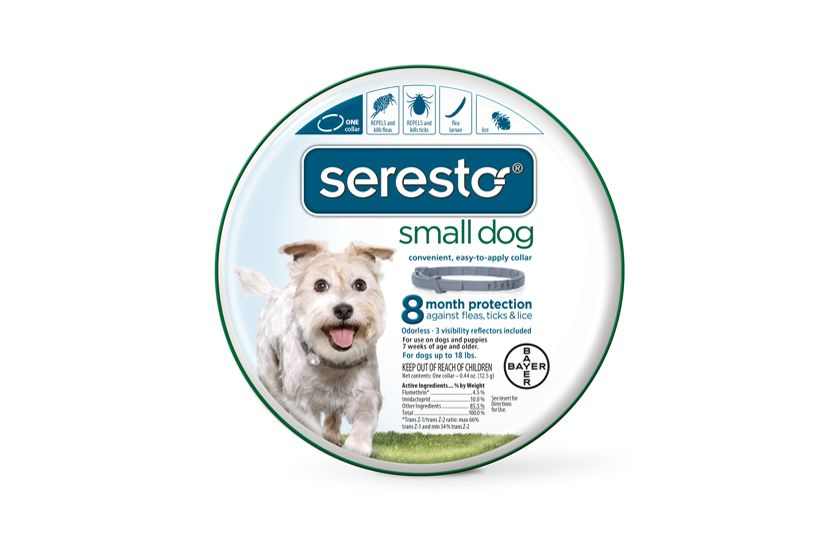 Seresto® is an odorless collar that kills and repels fleas and ticks