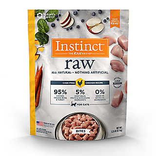 High animal protein, grain-free recipes guided by Instinct's belief in raw.